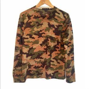 Michael Kors merino wool camouflage crewneck